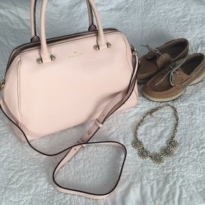 Kate Spade pebble leather pink tote